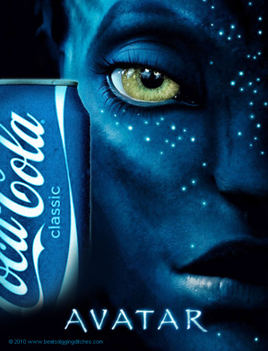 Avatar Poster with Coke Classic Can