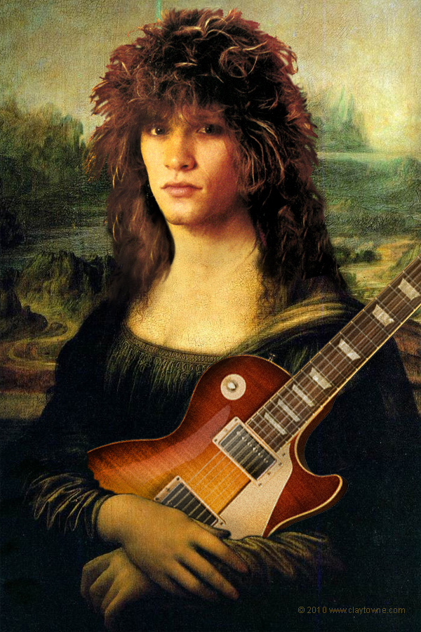 Bon Jovi as Mona Lisa by Clay Butler at Claytowne.com