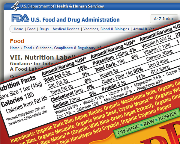 designing nutrition label sample