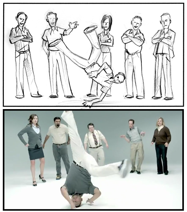 Java Life Storyboard Frame Breakdancing