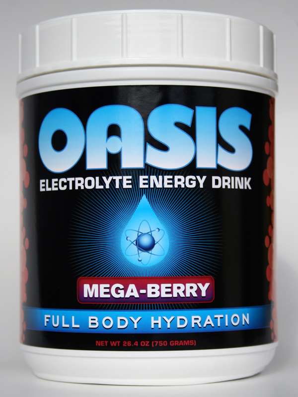 Oasis Electrolyte Energy Sports Drink Package Design