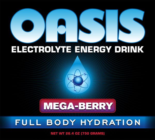 Oasis Electrolyte Energy Sorts Drink Label Detail