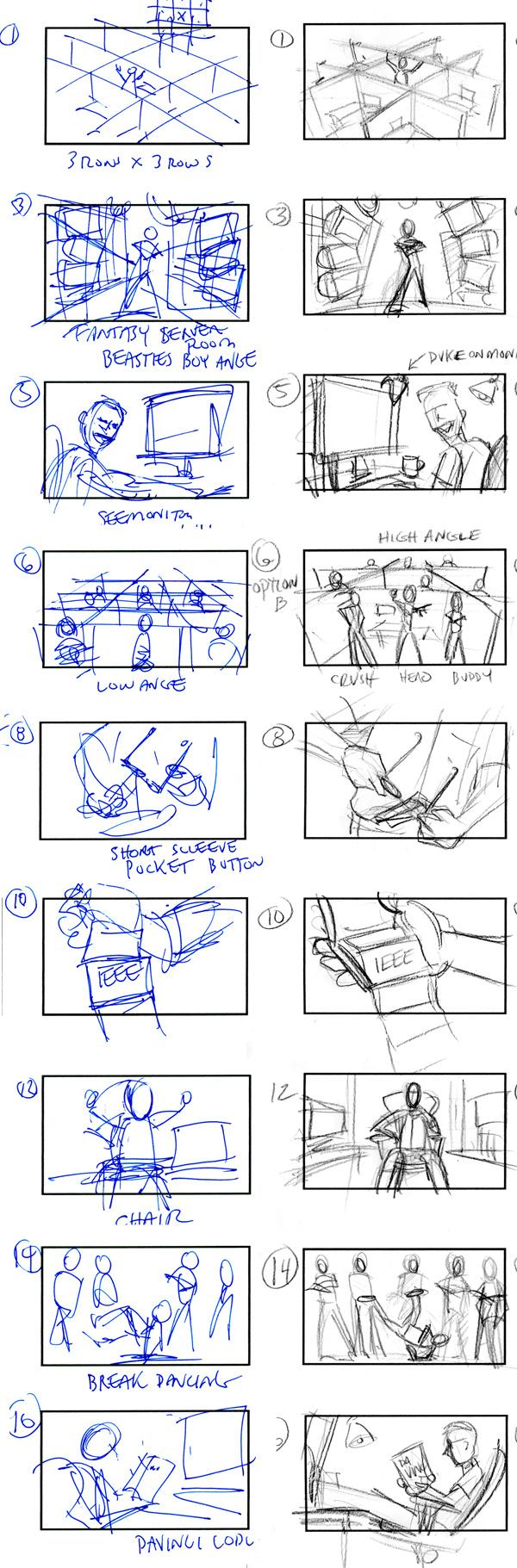 Java Life Oracle Rap Video Storyboard Thumbs