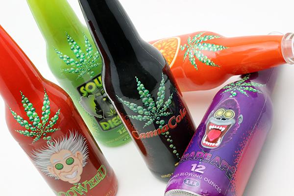 Canna Cola THC Marijuana Soda Pop Bottle Designs