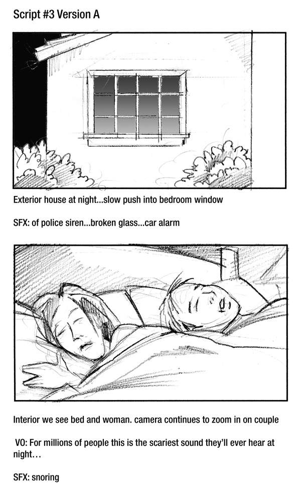 Pure Sleep Infomercial Storyboard Frames