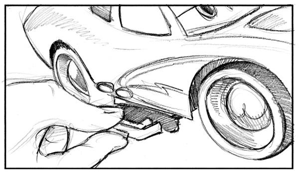 Disney Cars Storyboard