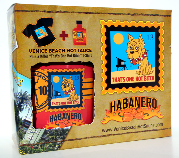 Venice Beach Hot Sauce Bottle and Gift Box Set