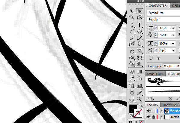 Quick and Easy Digital Ink and Paint in Adobe Illustrator CS5 Tutorial