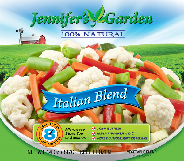 Jennifer's Garden Italian Blend Food Product Photography