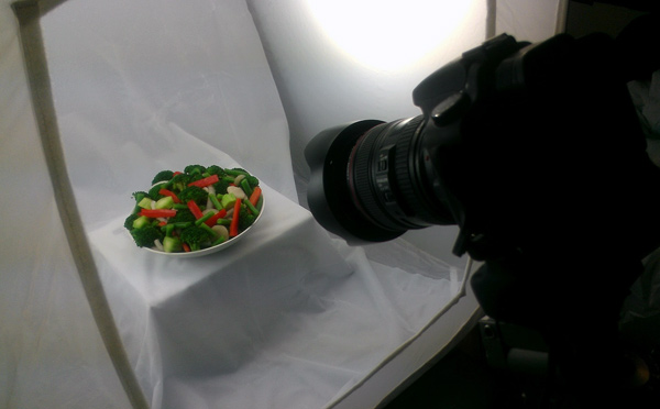 Studio Set Up for Shooting food products - Taking the shots