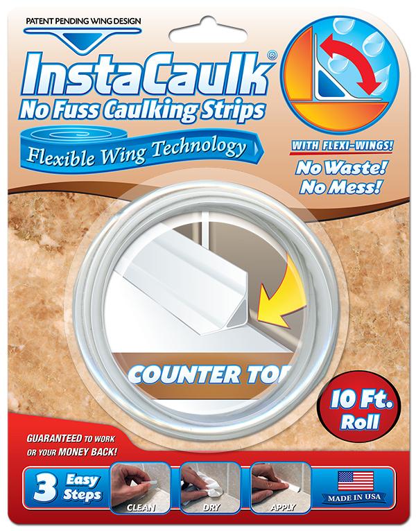 InstaCaulk Blister Package Design Counter Top
