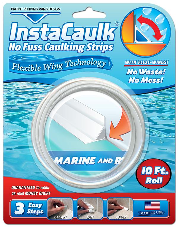 InstaCaulk Blister Package Design for the Marine RV Caulking Strips