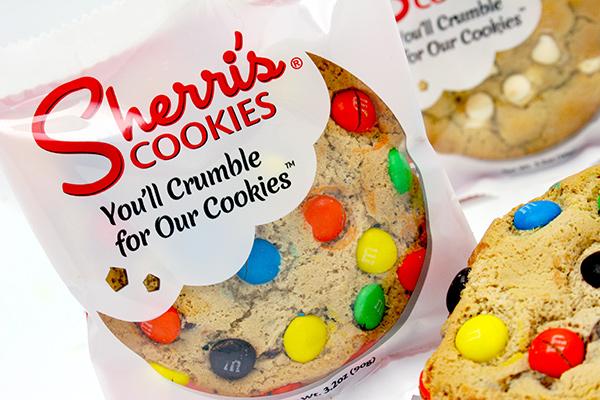 Sherris Cookies Package Wrapper Design