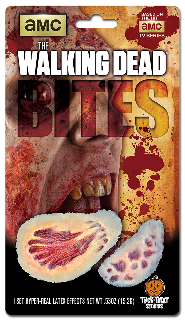 Blister Package Design for The Walking Dead Bites Makeup Effects Appliances