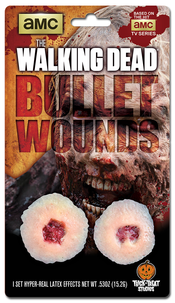 Blister Package Design for The Walking Dead Bullet Holes Makeup Effects Appliances