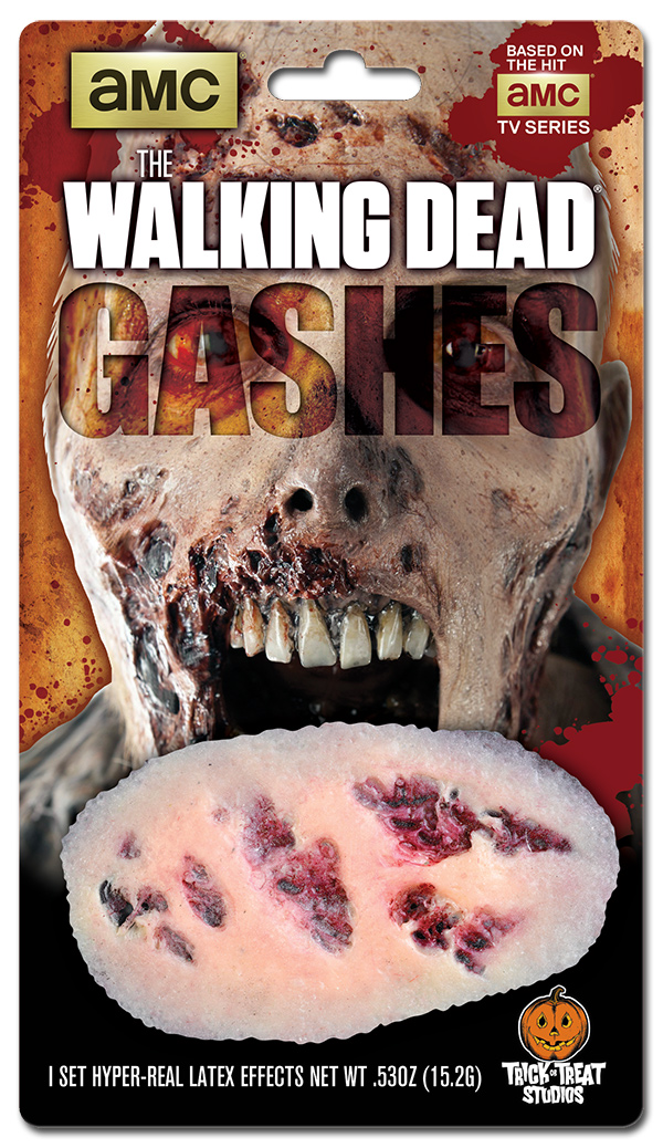 Blister Package Design for The Walking Dead Gashes Makeup Effects Appliances