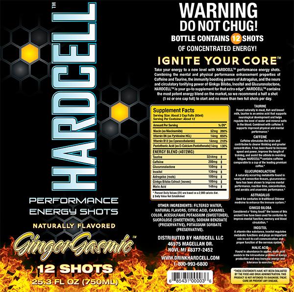 Hardcell GingerGasmic full label design wrap.