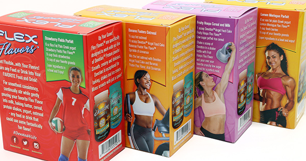 Flex Flavors Back of Box Design
