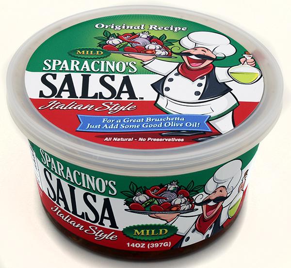 Sparacino's Italian Salsa Label