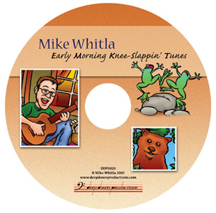 CD Label Design Illustration