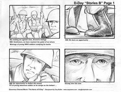 Large Image of Storyboard Illustration Sample
