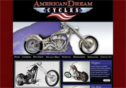 Web Design Sample for Custom Motorcyle Company