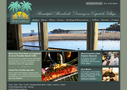 Large Screenshot of Restaurant Web Design Sample